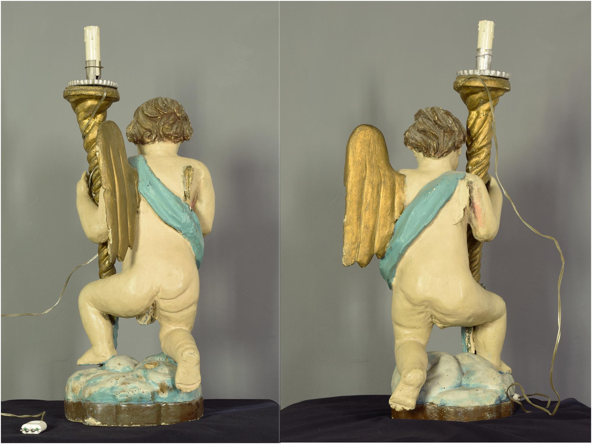 restauro scultura stampa 3D angeli cerofori