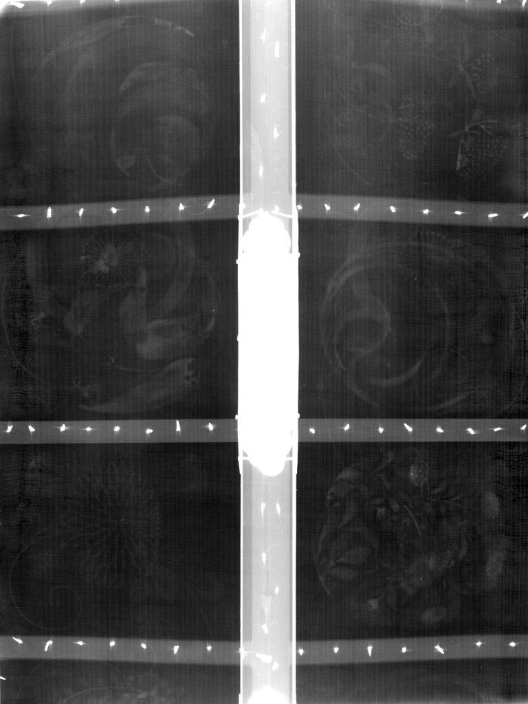 Immagine di analisi radiografica su portantina giapponese