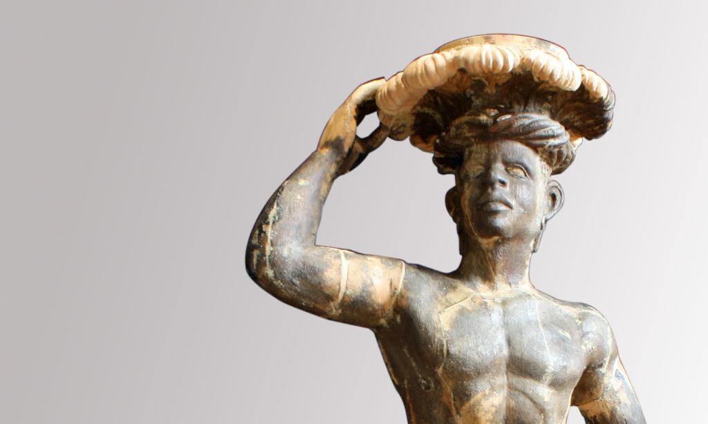 Restauro scultura lignea Moro