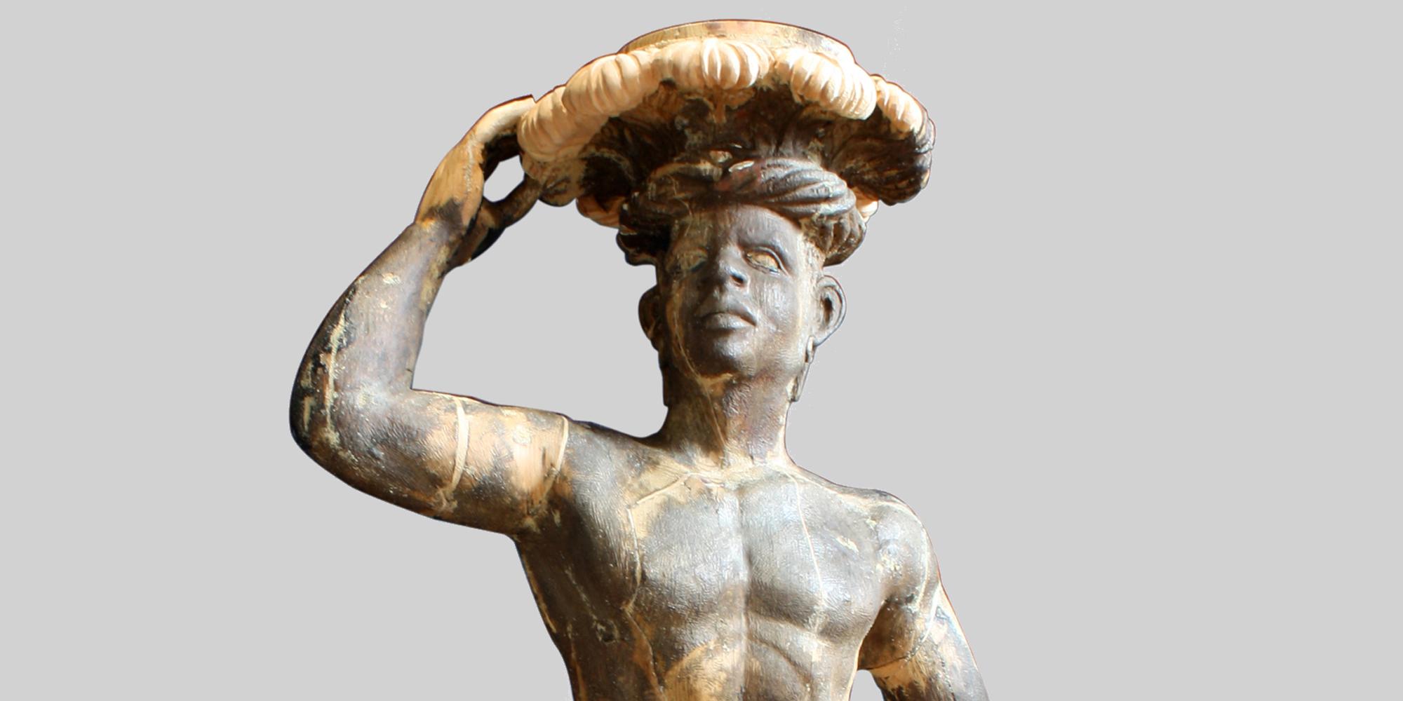 Restauro di scultura lignea di Moro veneziano