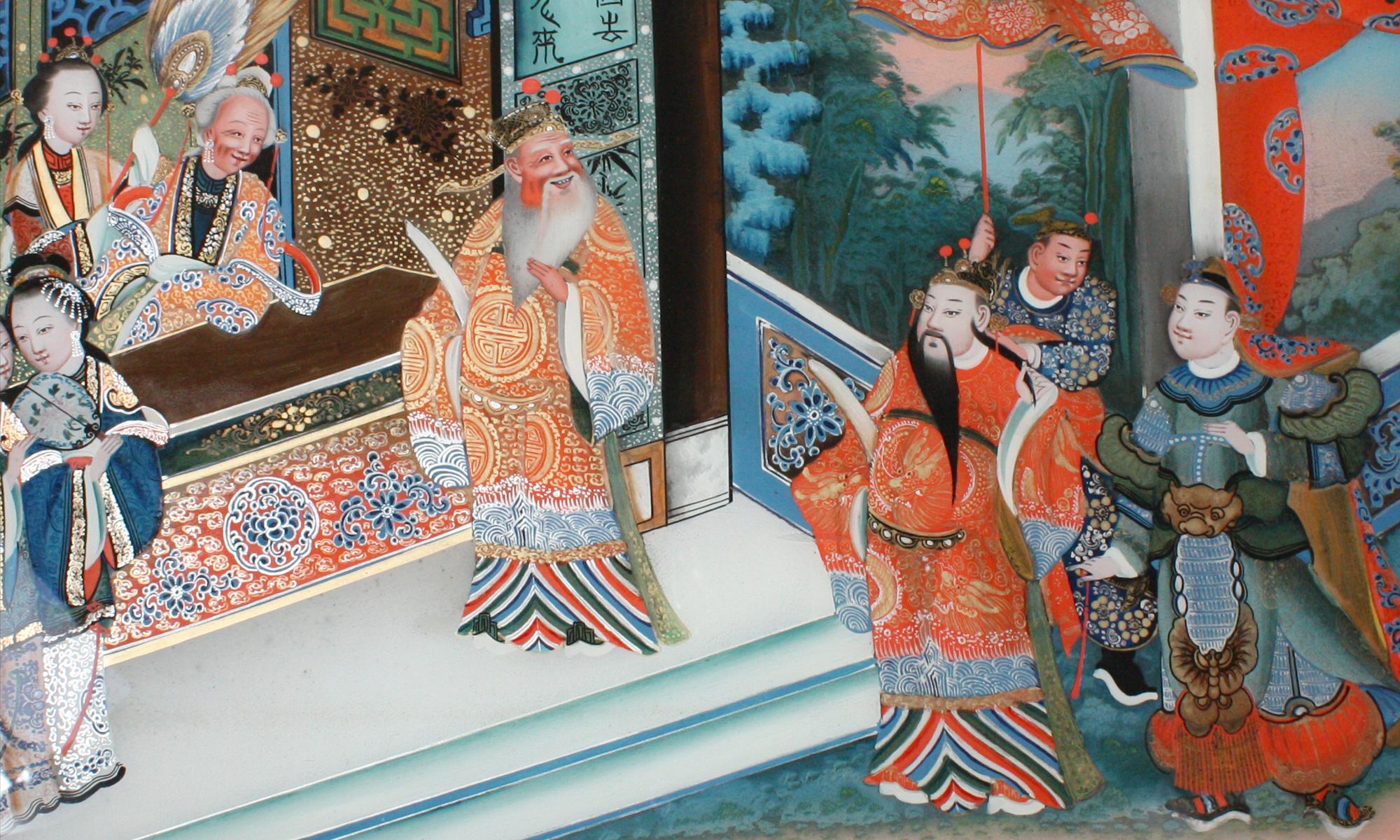 restauro dipinti vetro cinesi