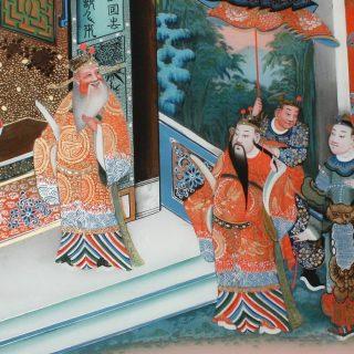 Venite a scoprire la tecnica cinese  della pittura al contrario su vetro @museo_garda_ivrea  Www.rest-art.biz/2021/04/09/restauro-dipinti-su-vetro-cinesi/