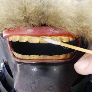 Operazione di igiene orale in corso 😂